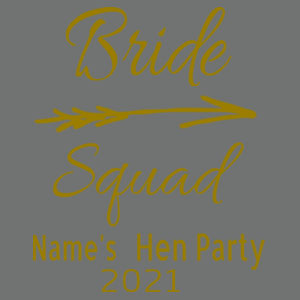 Bride Squad - Softstyle® women's deep scoop t-shirt Design