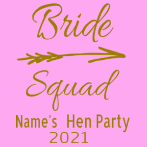 Bride Squad - Lady-fit strap tee Design
