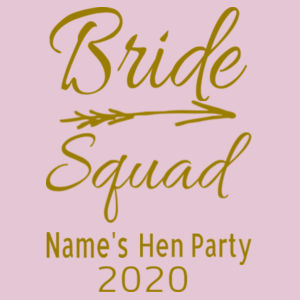 Bride Squad - Softstyle™ women's ringspun t-shirt Design