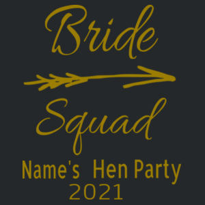 Bride Squad - Softstyle™ adult ringspun t-shirt Design