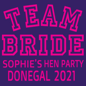 Team Bride - Softstyle™ adult ringspun t-shirt Design