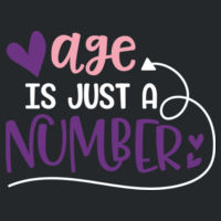 Age is just a number - Softstyle™ women's long sleeve t-shirt Design