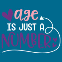 Age is just a number - Softstyle™ women's ringspun t-shirt Design