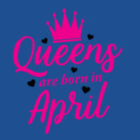 Queens are born in April - Softstyle™ adult ringspun t-shirt Design