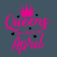 Queens are born in April Design