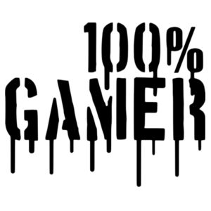 100% Gamer - Horizontal Wall Sticker Design
