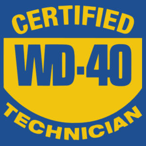 Certified WD40 Technician - Softstyle™ adult ringspun t-shirt Design