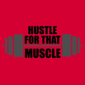 Hustle for that Muscle - Softstyle™ adult tank top Design