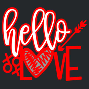 Hello Love - Softstyle™ adult ringspun t-shirt Design