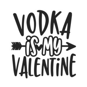 Vodka is my Valentine - Rectangle Smooth Edge Keyring Design