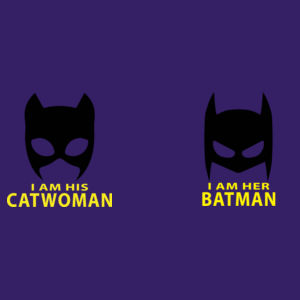Im his Batwoman / Im her Batman - Matching T-shirts Softstyle  Design