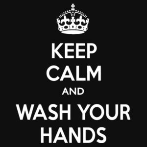 Keep Calm and Wash Your Hands - College hoodie Design