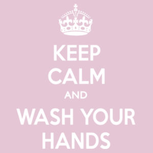 Keep Calm and Wash Your Hands - Softstyle™ women's ringspun t-shirt Design