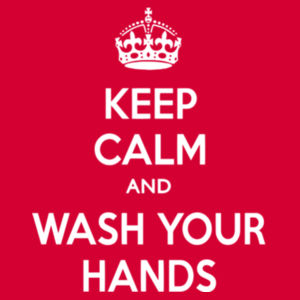 Keep Calm and Wash Your Hands - Softstyle™ adult ringspun t-shirt Design