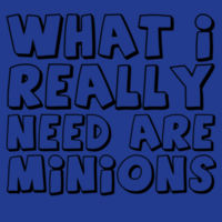 What I really need are minions - Varsity Hoodie Design