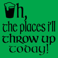 Oh the places I'll throw up today Design