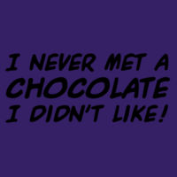 I never met a chocolate I didn't like! Design