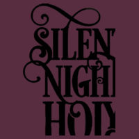 Silent Night Silver - Heavy blend™ adult crew neck sweatshirt Design