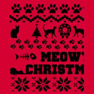 Meowy Christmas - Heavy blend™ adult crew neck sweatshirt Design
