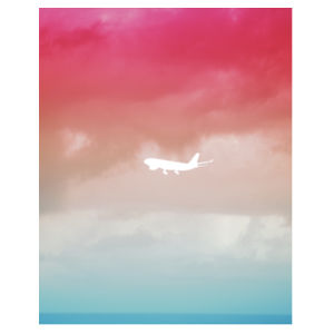 Plane Sunset - Heavy Cotton™ Youth T-shirt Design