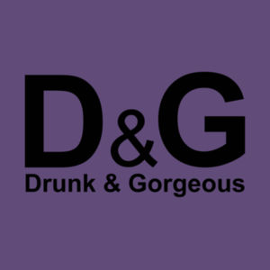 D&G Drunk and Gorgeous in Gold - Softstyle™ women's v-neck t-shirt Design