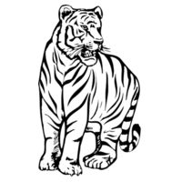 Tiger - Softstyle™ long sleeve t-shirt Design