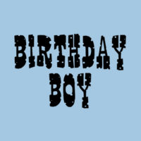 Birthday Boy Cowboy Style - Heavy cotton toddler t-shirt Design