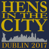 Hens In The City - Softstyle™ women's ringspun t-shirt Design