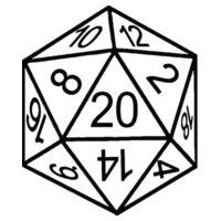 D20 Dice - Softstyle™ women's v-neck t-shirt Design