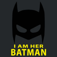 I am her Batman - Softstyle™ adult ringspun t-shirt Design