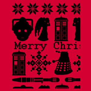 Doctor Who Christmas Jumper - Heavy Blend™ youth crew neck sweatshirt Design