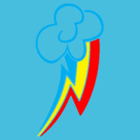 My Little Pony Rainbow Dash Cutie Mark - Varsity Hoodie Design