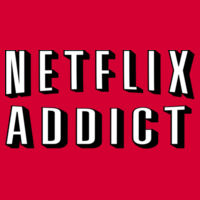 Netflix Addict - Heavy Cotton 100% Cotton T Shirt  Design