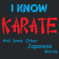 I Know Karate Design