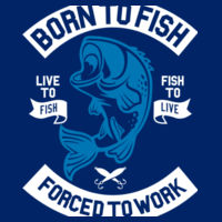 Born to Fish - Ringer tee Design