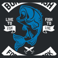 Born to Fish - HeavyBlend™ adult hooded sweatshirt Design