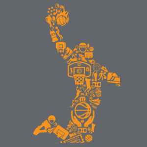 Basketball Player - Softstyle™ adult ringspun t-shirt Design