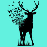 Butterfly Deer - Softstyle™ adult ringspun t-shirt - Softstyle™ women's ringspun t-shirt Design