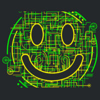 Electric Smiley - HeavyBlend™ adult hooded sweatshirt Design