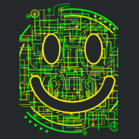 Electric Smiley - Softstyle™ youth ringspun t-shirt Design