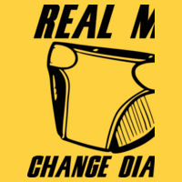 Real Men - Softstyle™ adult ringspun t-shirt Design