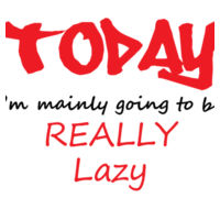 Lazy Day - Softstyle™ adult ringspun t-shirt Design
