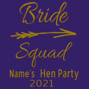 Bride Squad - Softstyle™ adult ringspun t-shirt - Softstyle™ women's v-neck t-shirt Design