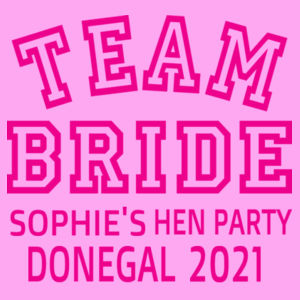 Team Bride - Softstyle™ adult ringspun t-shirt - Lady-fit strap tee Design
