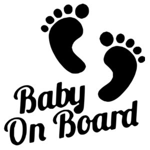 Baby on Board - Car Bumper Sticker Design