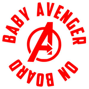 Baby Avenger On Board - Car Bumper Sticker Design