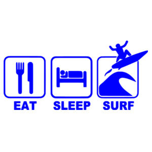 Eat Sleep Surf - Car Bumper Sticker Design
