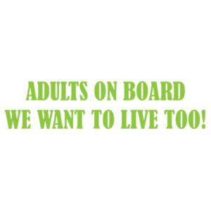 Adults on Board - Car Bumper Sticker Design