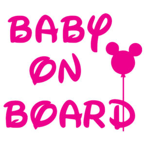 Baby on Board With Balloon - Car Bumper Sticker Design