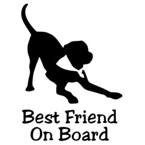 Best Friend On Board - Car Bumper Sticker Design